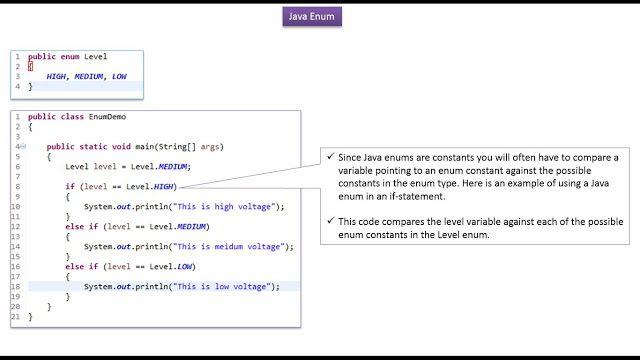 Java Tutorial Enum In Java How To Use Enum In If Statement