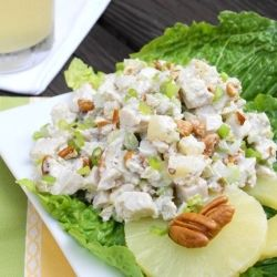 Pineapple-Pecan Chicken Salad is a refreshing twist on a classic. You could make it even healthier and substitute the Mayo with FF mayo! ;)