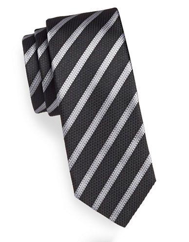 Hudson's Bay   Men   Ties & Bow Ties    Striped Diamond Jacquard Silk Tie   Hudson's Bay