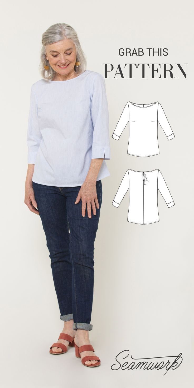 The York top is such a great basic woven top pattern – and it's totally free.