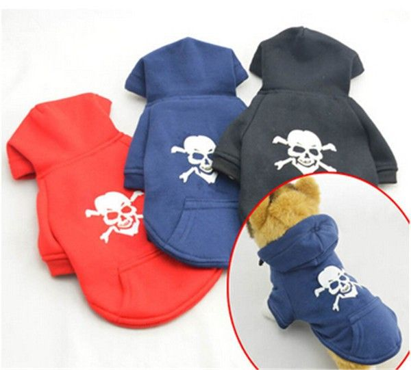 Soft Cotton Dog Pet Skull Hoodie //Price: $15.69 & FREE Shipping //     #skull #skullinspiration #skullobsession #skulls