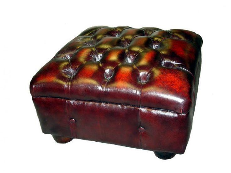 Gladbury Traditional Leather Stool
