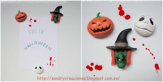 SanDryCreaciones: Imanes de Halloween con Pasta Polimérica