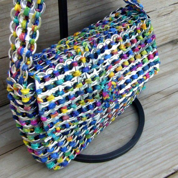 Soda tab bags | The DIY Adventures- upcycling, recycling and do it yourself from around the world.