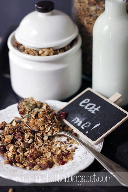 Feed Me Better: Domowa granola (musli). samo zdrowie!
