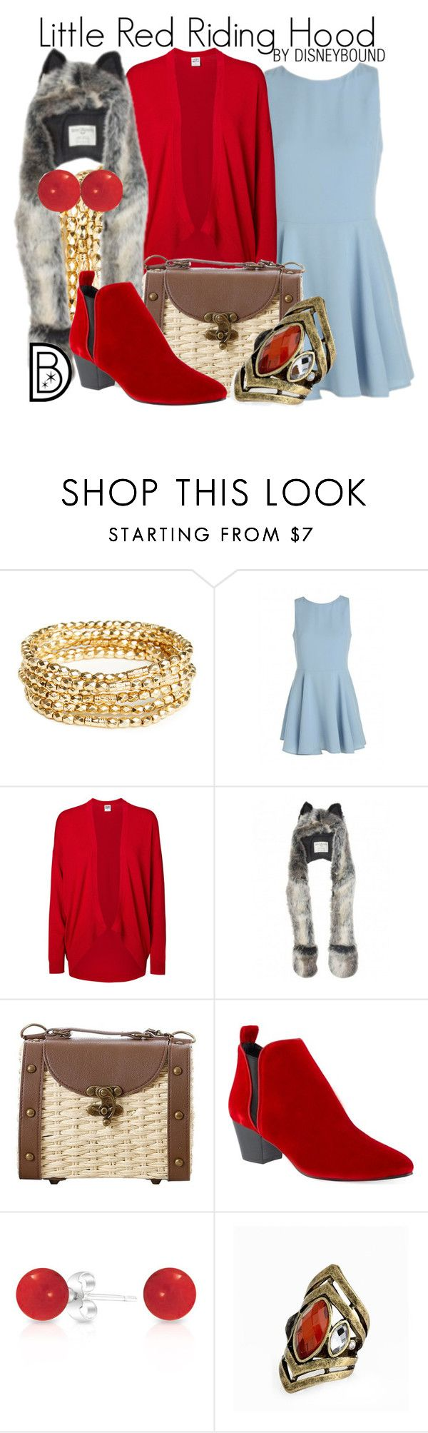 """Little Red Riding Hood"" by leslieakay ❤ liked on Polyvore featuring DailyLook, Vero Moda, Retrò, KG Kurt Geiger and Bling Jewelry"