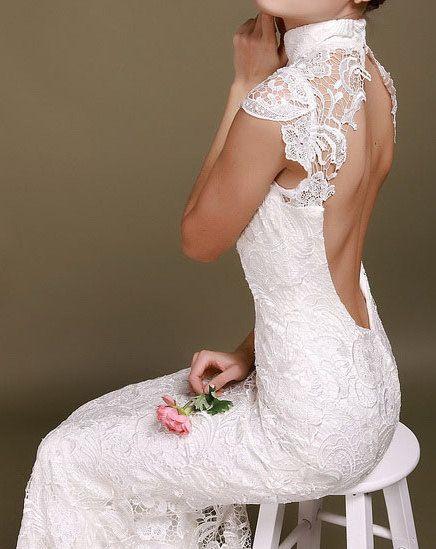 Chinese Wedding Dress Lace Wedding Dress von Prettyobession auf Etsy, $310.00