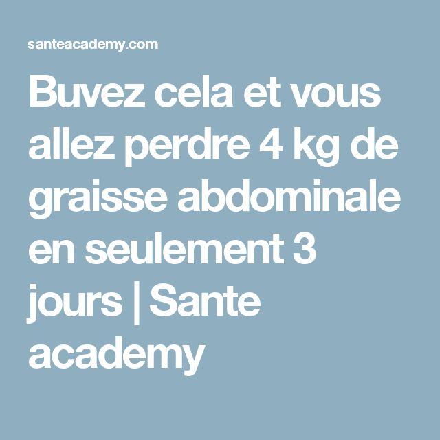 Buvez cela et vous allez perdre 4 kg de graisse abdominale en seulement 3 jours | Sante academy
