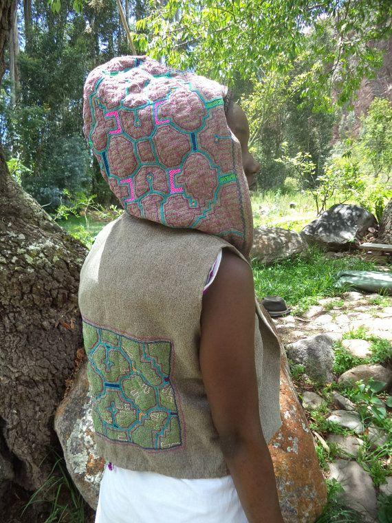 Shakruna Ayahuasca Visions hooded pixie waistcoat by Shakruna