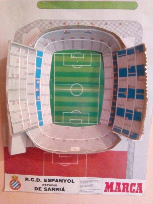 Maqueta Sarri 224 Rcde Barcelona Futbol Soccer Maquetas