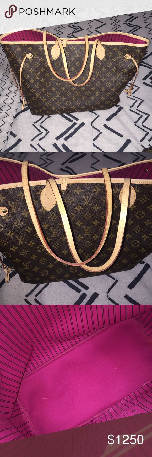 Louis Vuitton neverfull GM In monogram canvas. NO TRADES. In excellent condition, no rips, no tears. Comes with box, dust bag, receipt. Louis Vuitton Bags Totes