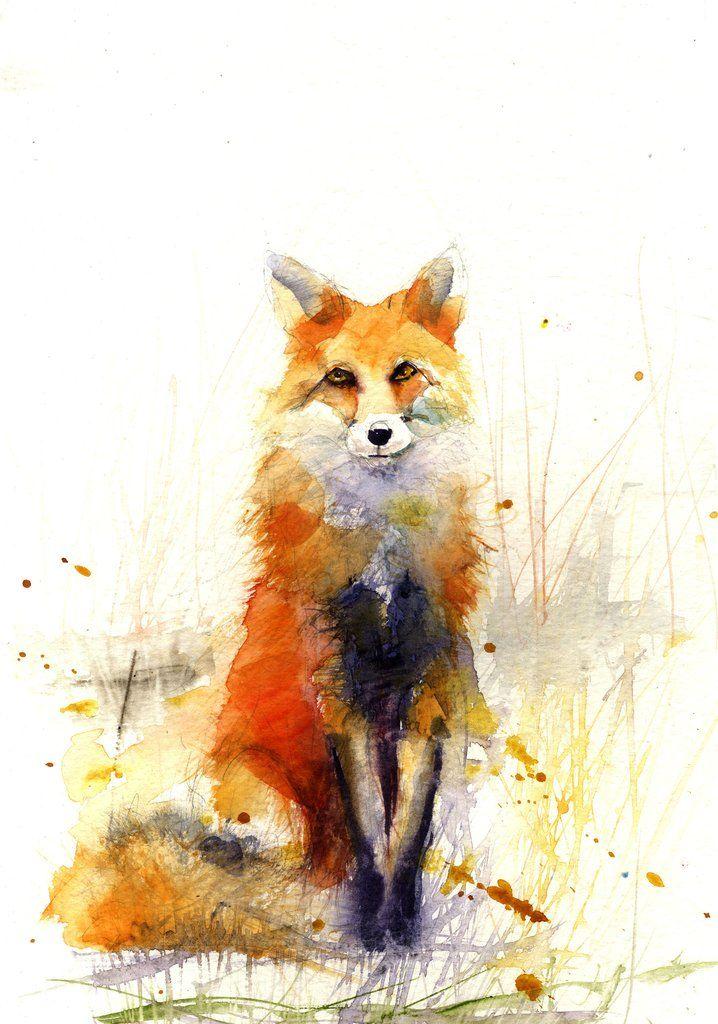 LIMITED EDITON PRINT de mes originaux RED FOX - édition limitée imprime art animalier Jen Buckley Art