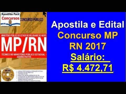 Apostila Edital Concurso MP/RN 2017: Técnico do Ministério Público Estadual-Administrativa | Apostilas Para Concursos