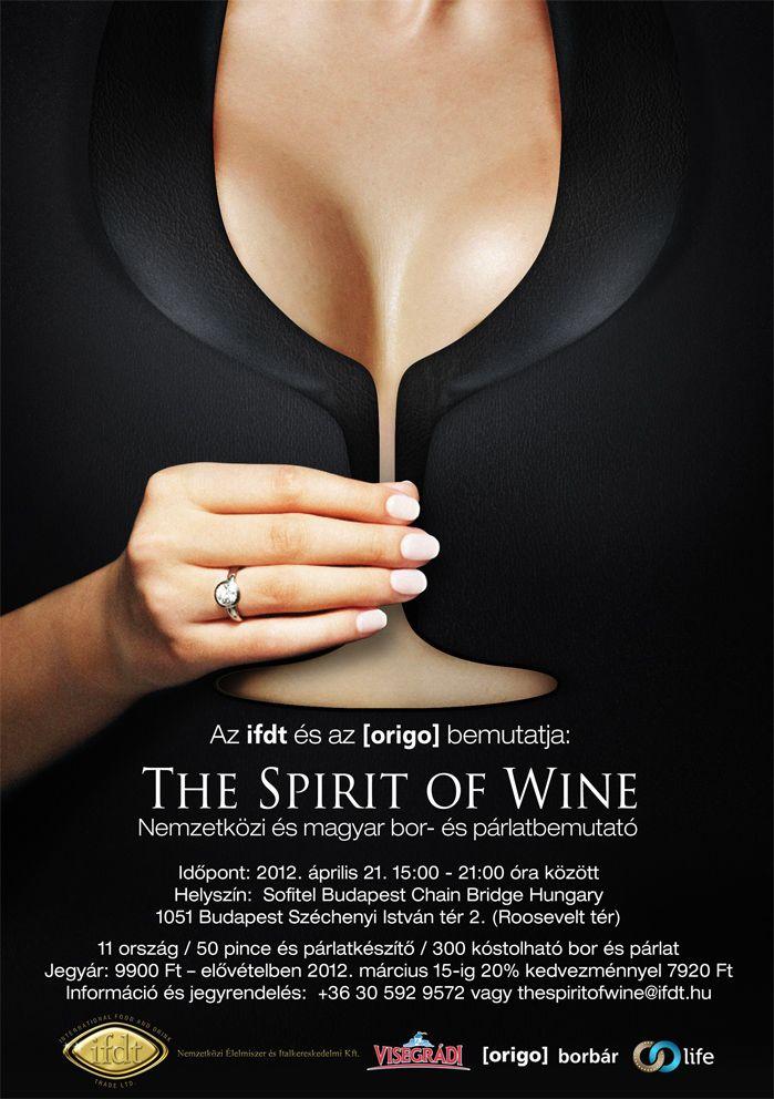 Wine & Spirit festival poster #cleavege #winefestival #poster