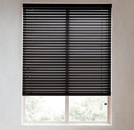 Living room wood blinds at restoration hardware scotty for Restoration hardware window shades