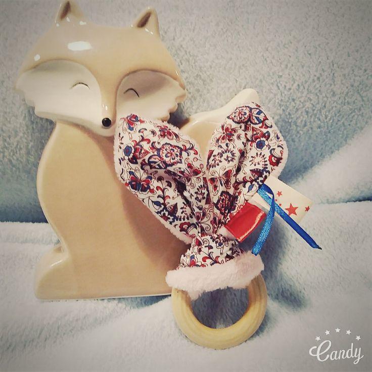 Hochet oreilles de lapin★ hochet de dentition en bois non traité pour bébé★ cadeau de naissance : Jeux, peluches, doudous par mesbouillesabisous