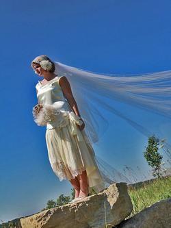 Flapper wedding dresses