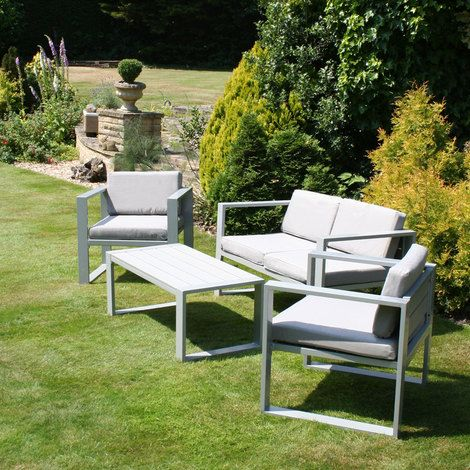 Aluminium Garden Furniture Lounge Set Dining Set Table Sofa and 2 Armchairs  by Charles Bentley. 167 best Gorgeous Garden Furniture images on Pinterest