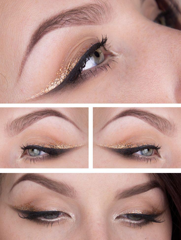 smokey double winged liner: black + metallic gold | eye makeup @stjima