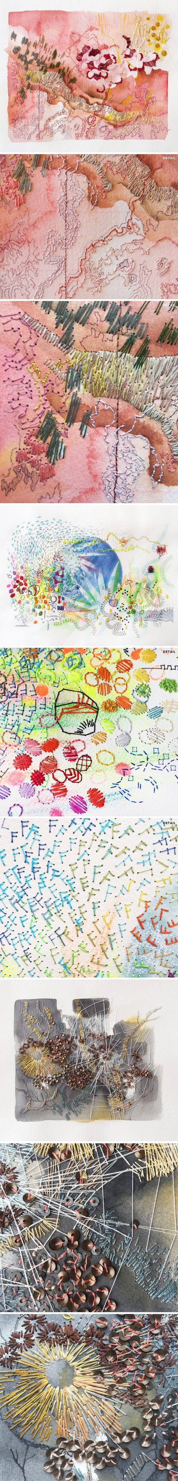 rhian swierat (painting + embroidery)