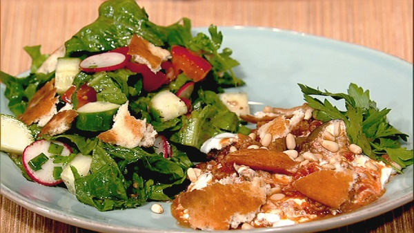 the chew | Recipe  | Mais Khourdaji's Fattoush Salad