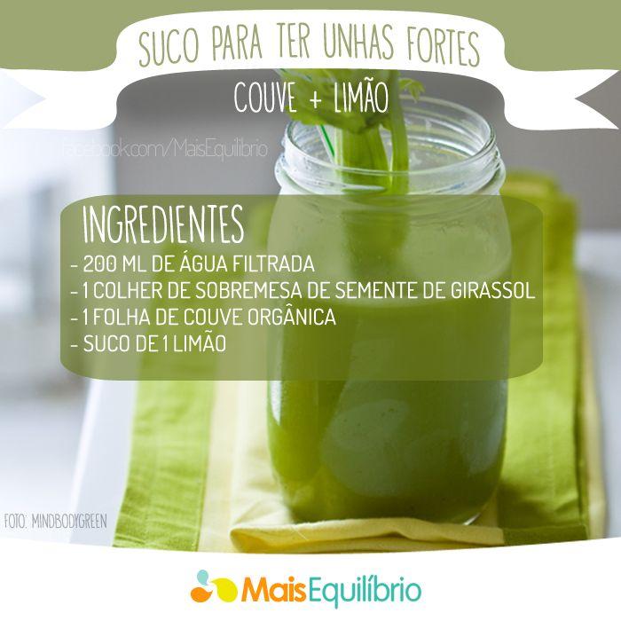 Sucos funcionais para você cuidar melhor da sua pele, unhas, cabelos e saúde! http://goo.gl/IHIkGT