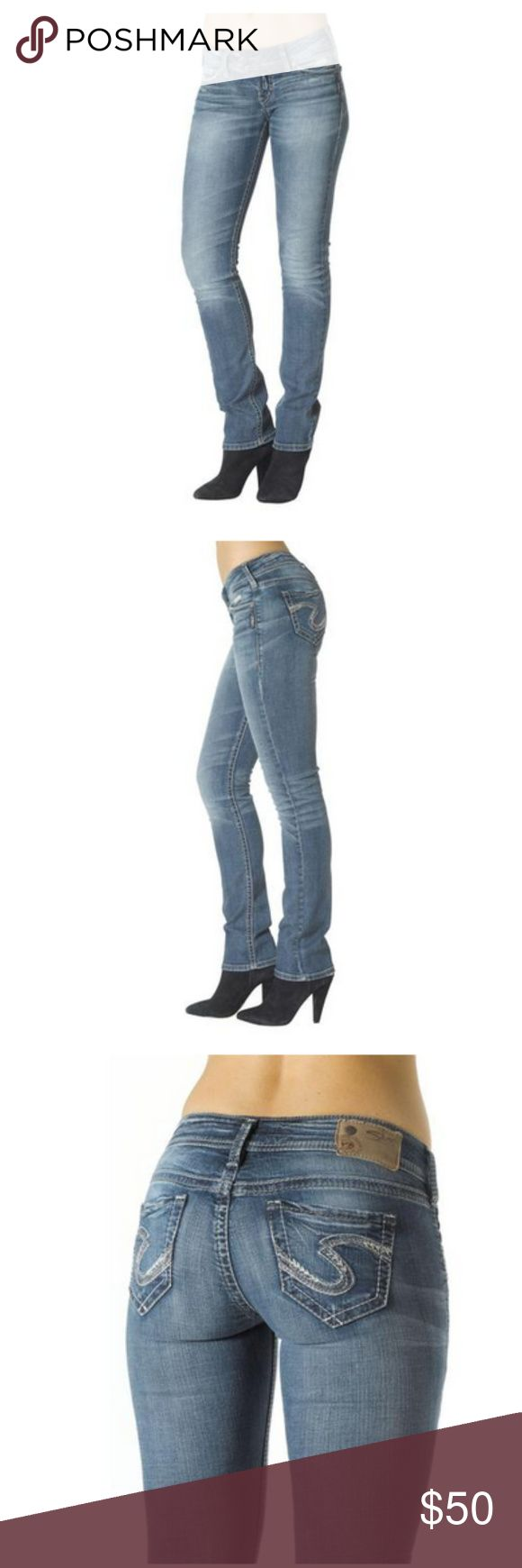 NWOT Silver Jeans Women's Tuesday Low Boot Cut Brand new without tags! Designed in our Super Stretch fabric for an ultra soft and easy-going feel, this low rise Tuesday boot cut in a medium wash has attention grabbing back flap pockets. Tuesday is crafted to flatter a straight build; meaning the denim is cut to complement straight hips and a rectangular silhouette.      Straight Fit     Slim Hip & Thigh     Low Rise     98% Cotton, 2% Elastane Silver Jeans Jeans Boot Cut