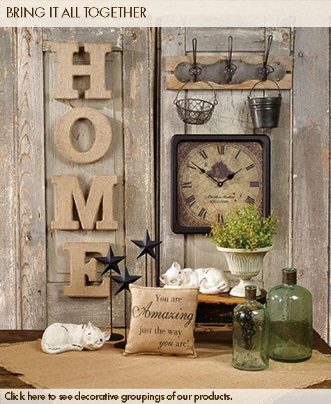 159 best images about decorating on pinterest - Country wall decor ideas ...