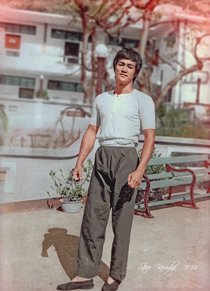 Bruce Lee when filming The Big Boss.