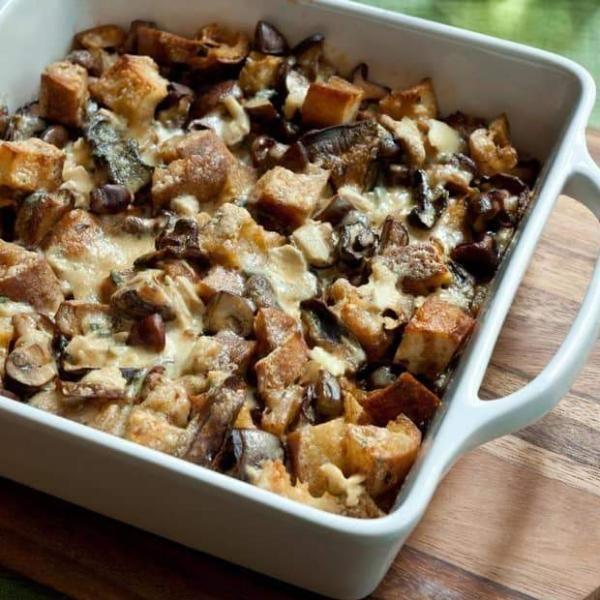Gebratenes Hähnchen mit Lauch & Point Reyes Blauschimmelkäse – INFUSED Oils & Vinegars   – Rezepte