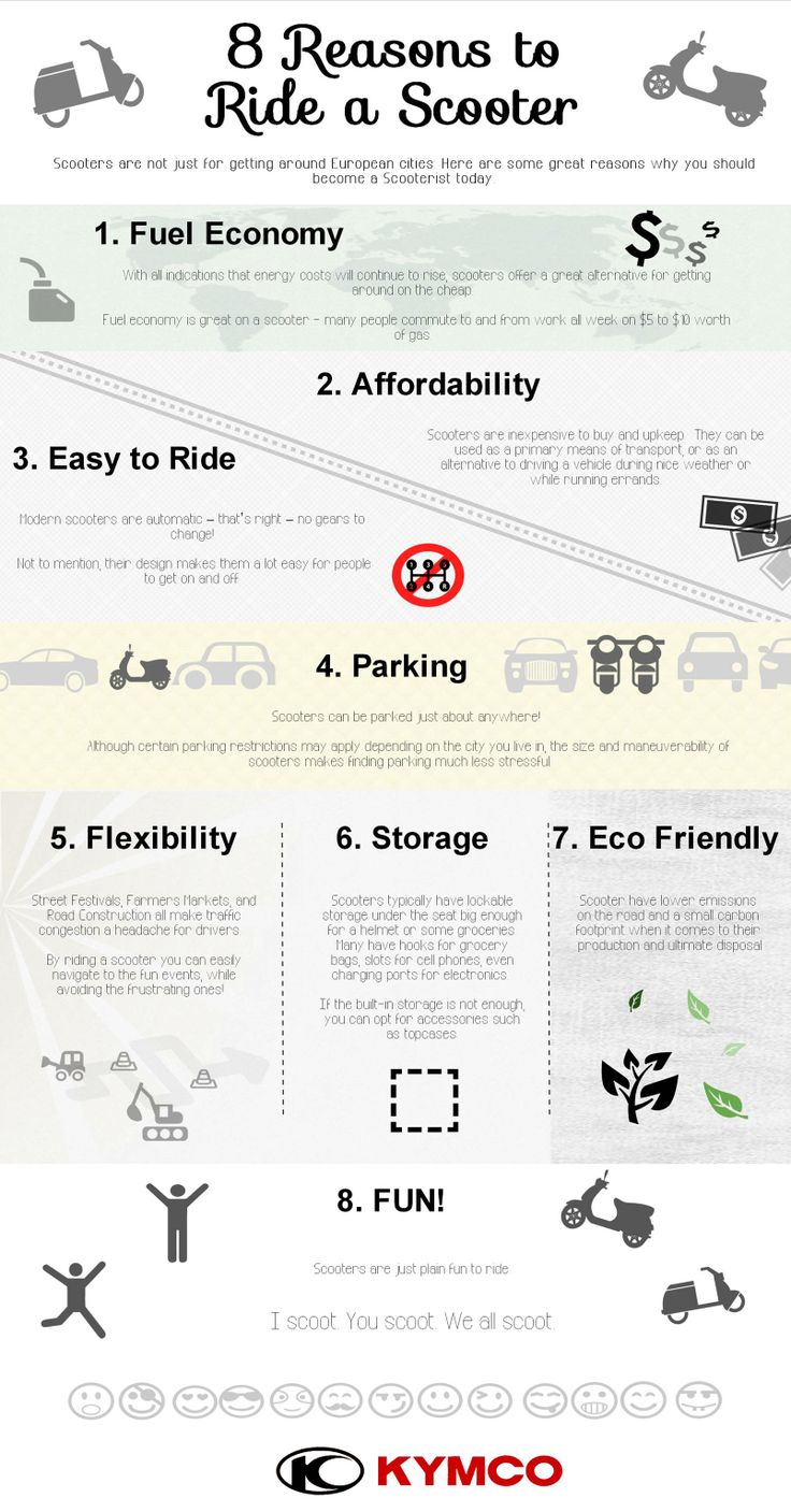 8 Reasons why you should ride a Scooter. #KYMCO
