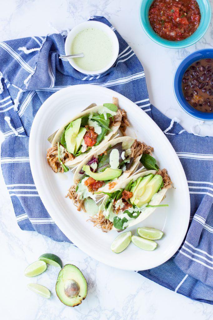 Shredded Sweet Pork Tacos | how to make shredded pork | shredded pork recipes | homemade pork barbecue | shredded pork taco recipes | homemade shredded pork tacos | homemade taco recipes | easy taco recipes | recipes using shredded pork || Oh So Delicioso