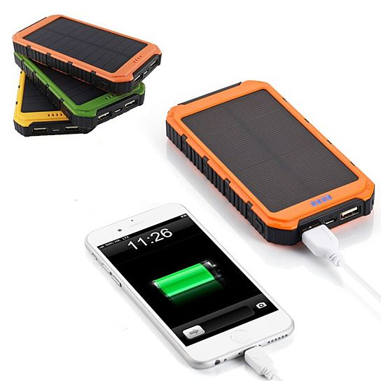Roaming Solar Power Bank a Phone Or Tablet ,Two Gadget Charger with it's DUAL…
