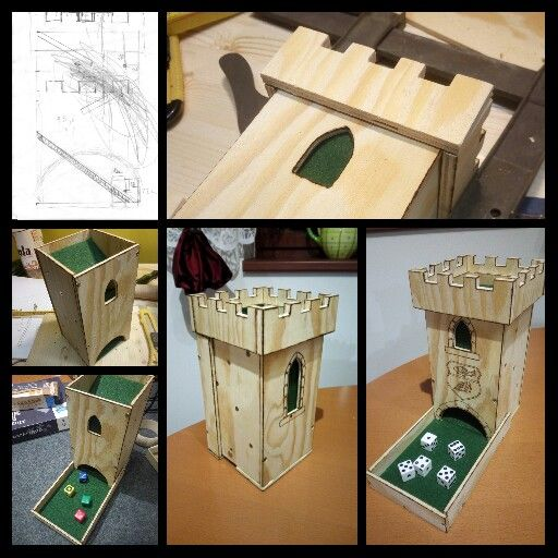 Diy Dice Tower From Sketch To Roll My Production