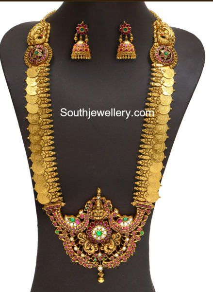 Antique Gold Lakshmi Kasu Mala