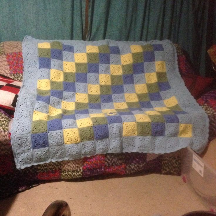 I call this my Japanese Square Afghan approximately 130cm square. The pattern came from Pierrott (Gosyo Co., Ltd). The title of the pattern is Amikomo 3 - 23 Luncheon mat. I followed the graph as I am unable to read Japanese.
