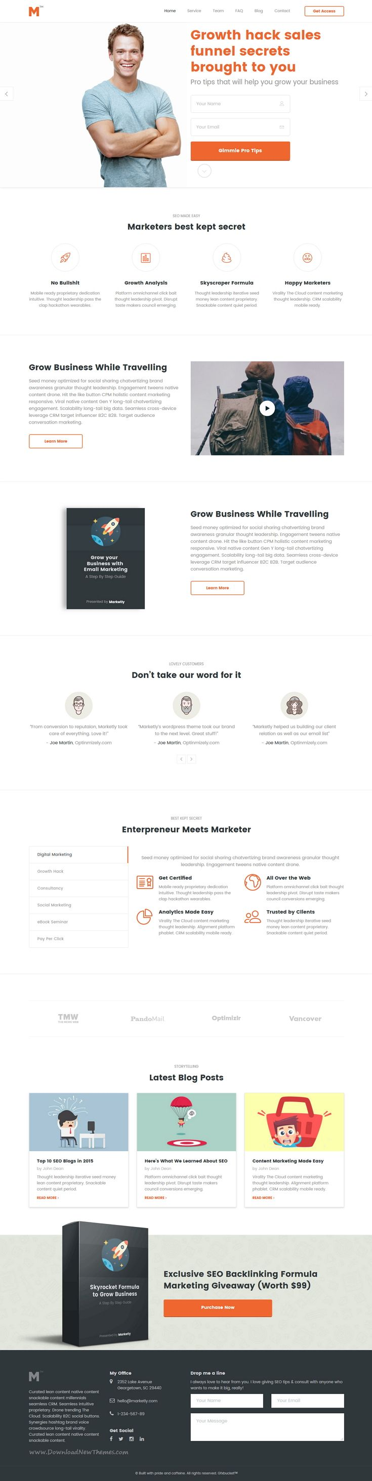 Marketing is multipurpose #business bootstrap Template suitable for Marketing #Agency, Studios and Consultancy Services #website. Download Now!