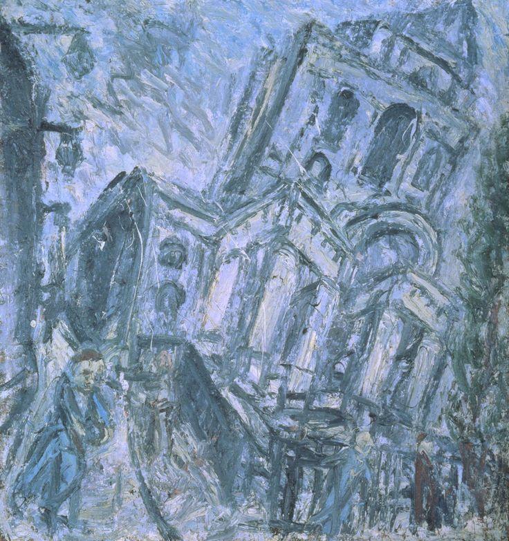 Leon Kossoff 'Christ Church, Spitalfields, Morning', 1990 © Leon Kossoff