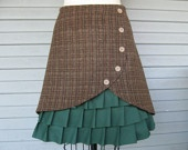 I ADORE this! Another winning peek-a-boo ruffle/pleat skirt from LoveToLoveYou on Etsy.