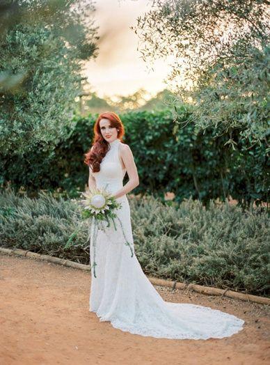 Stunning red hair bride destination wedding South Africa Babylonstoren wedding photography finest destination weddings for inspired brides
