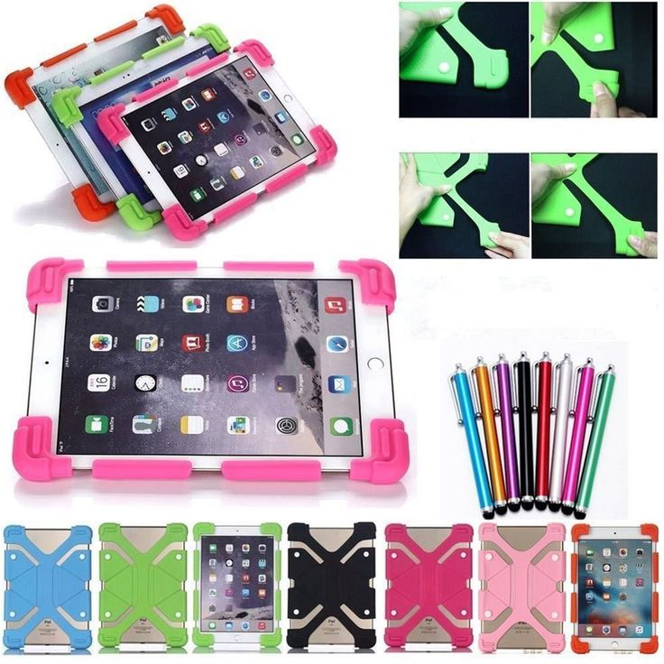 "For Samsung 8"" Tablet PC Flexible Shockproof Soft Silicone Universal Cover Case #UnbrandedGeneric"
