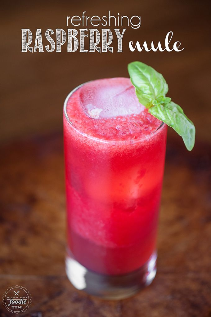 This Refreshing Raspberry Mule combines lime sweetened raspberry puree with vodka and ginger beer to create a tasty, refreshing, and easy to make cocktail.
