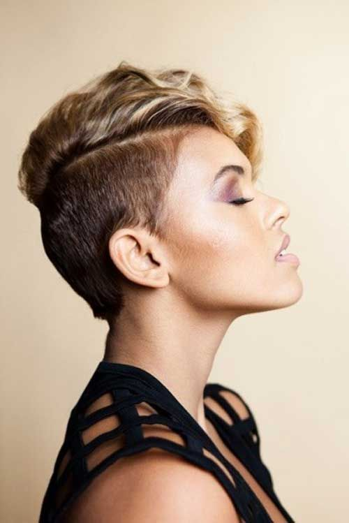 shaved pixie cut with highlights | Shaved Short Pixie Cuts Design
