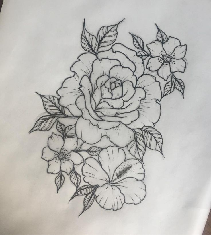 """261 Likes, 3 Comments - Dani (@danibelleink) on Instagram: """"Little floral one for tomorrow ☺ @14arrowstattoo #rose #rosetattoo #hibiscustattoo #hibiscus…"""""""