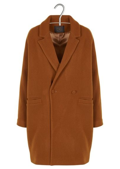6a85c1a459ef Manteau col tailleur oversize en laine caramel des petits hauts - femme    New co (AW-18 19)   Pinterest   18th