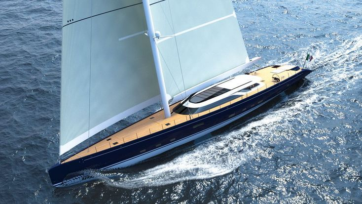 BLUE SAPPHIRE – a 52m Hybrid Sailing Yacht by Ferrari Franchi Design