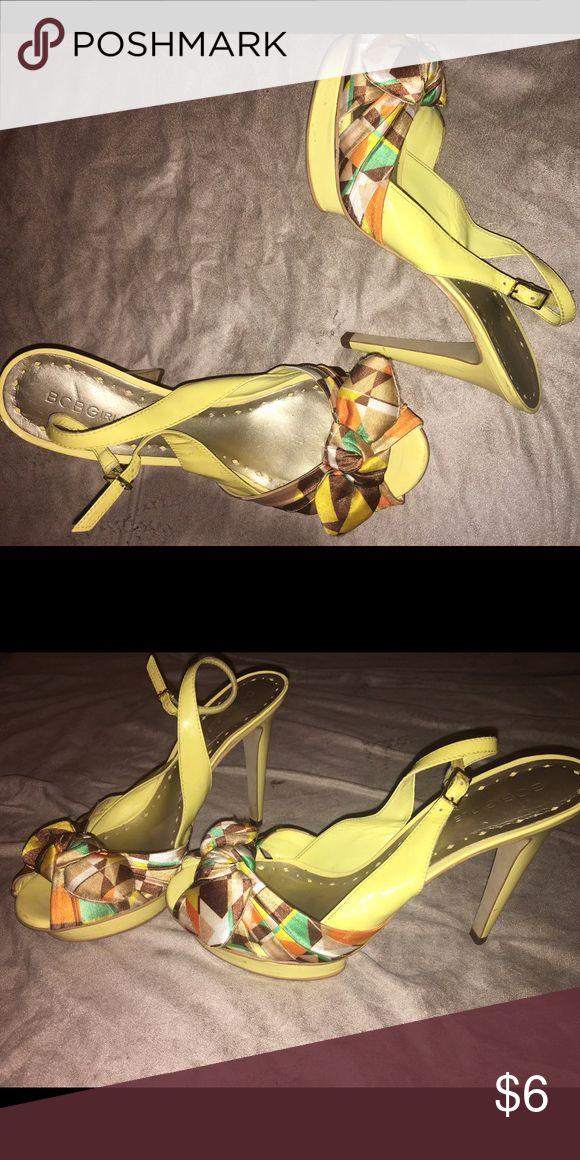 Yellow High Heels Yellow High Heels. Very comfortable, easy to walk in. BCBGirls Shoes Heels