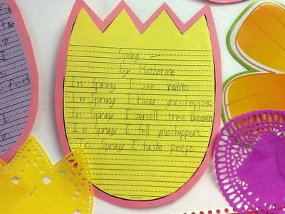 32 best school ideas poetry images on pinterest classroom ideas 5 senses spring poem fandeluxe Choice Image