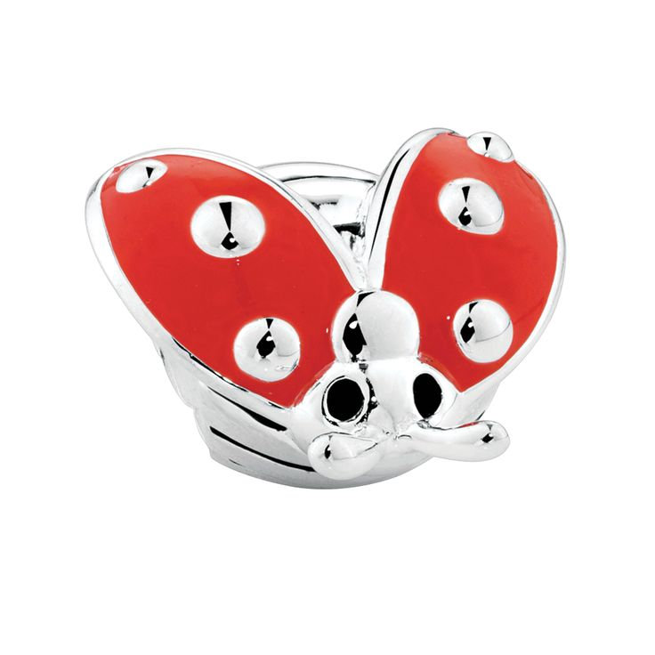Cute as can be, this sterling silver lady beetle charm has been accented with red and black enamel and is sure to put a smile on your face. Exclusive to Emma & Roe.