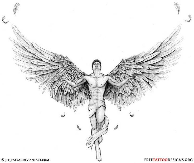 Classic Half Sleeve Guardian Angel Tattoo Designs | Tattoo Love
